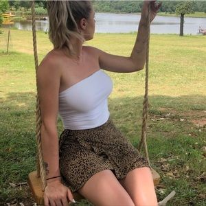 Cheetah wrap skirt